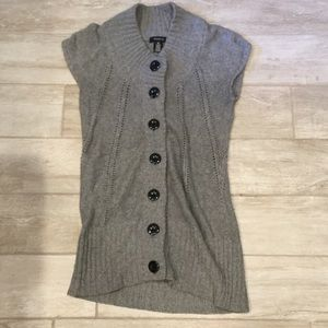 Arden B grey button sweater/vest